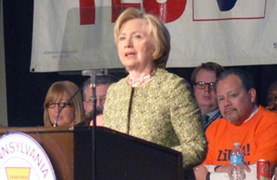 Hilary at AFL-CIO Commission
